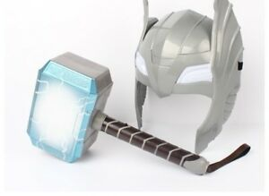Marvel-Avengers-Alliance-Series-Thor-Hammer-Helmet-Mask-Halloween-Props-Model