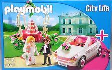 Playmobil 6871 Hochzeit Braut Bräutigam Brautauto Pavillon Torte Blumen  NEU