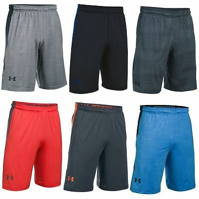"New Under Armour Men/'s Raid 10/"" Shorts in White//White or Navy//Steel #1253527"