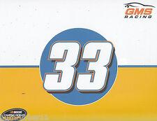 "2016 KAZ GRALA ""GMS RACING ALLEGIANT MARTINSVILLE"" #33 NASCAR TRUCK POSTCARD"