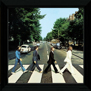 Image Is Loading The Beatles Abbey Road Rock Framed Album Cover