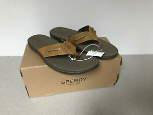 Sperry-Top-Sider-Pensacola-II-Men-039-s-Sandals-Tan-Choose-Condition-amp-Size
