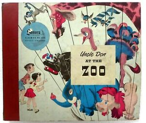 """Howard Rice UNCLE DON at the Zoo 3x78rpm 10"""" Album Sonora a85"""