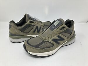 New-Balance-990-V5-Made-In-USA-Olive-Running-Shoes-M990AE5-Mens-Size-7-Kith