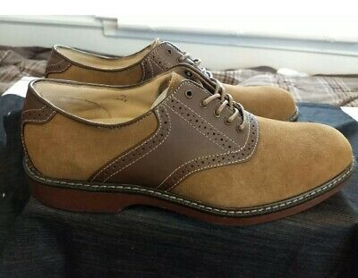 D Taupe/Dark Brown Suede Oxford Shoes