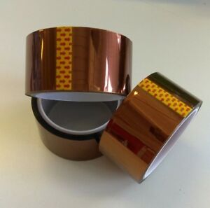 Kapton-Heat-Resistant-Insulating-Tape-48mm-x-33m-100ft-Polymide-US-Seller-18650