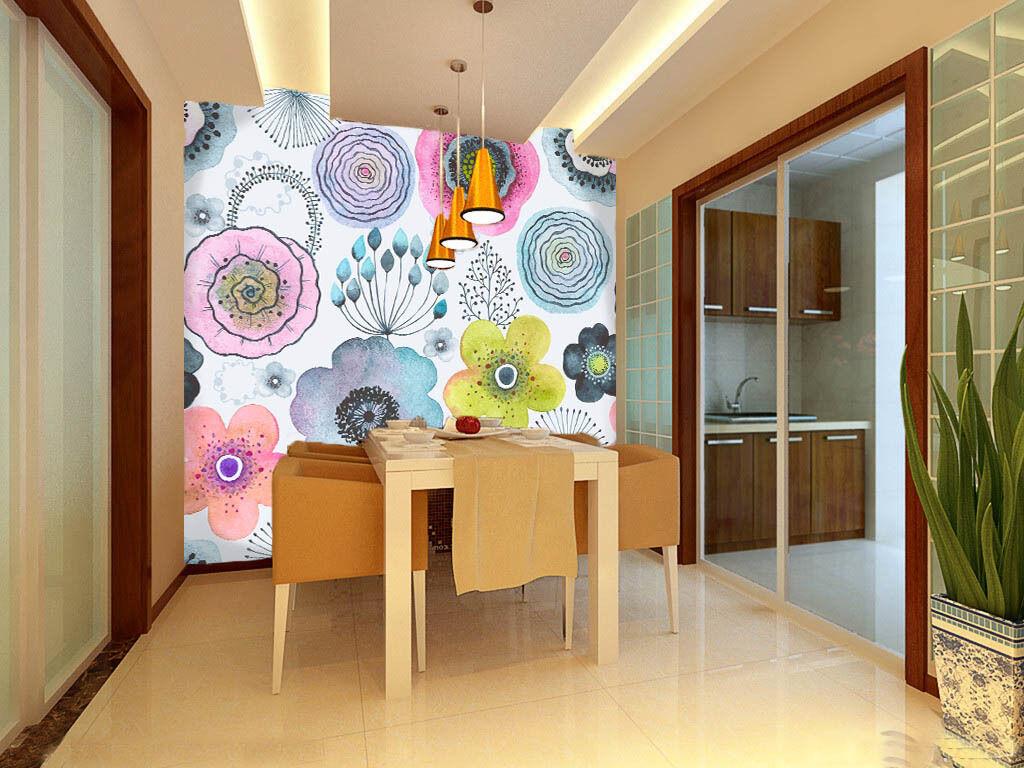3D Unique fresh flower1 WallPaper Murals Wall Print Decal Wall Deco AJ WALLPAPER