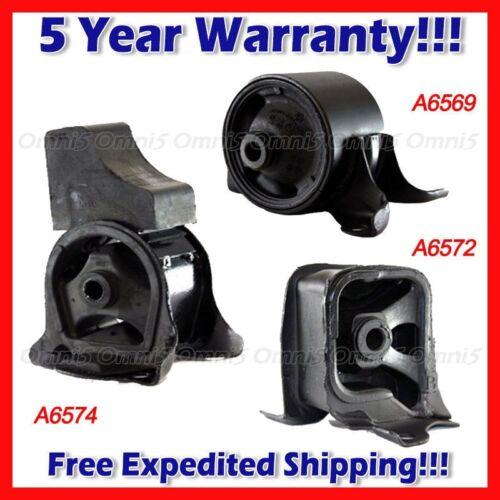 Mount Set 3PCS Manual Trans A063 For 98-02 Honda Accord 2.3L Front//Rear//Trans