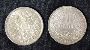 GERMANY-1-MARK-1914-SILVER-1-COIN