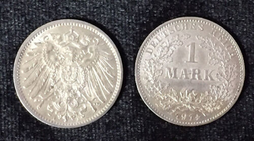 GERMANY 1 MARK 1914 SILVER 1 COIN