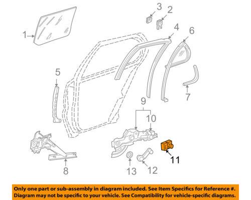 GM OEM Front Door-Guide 16624405
