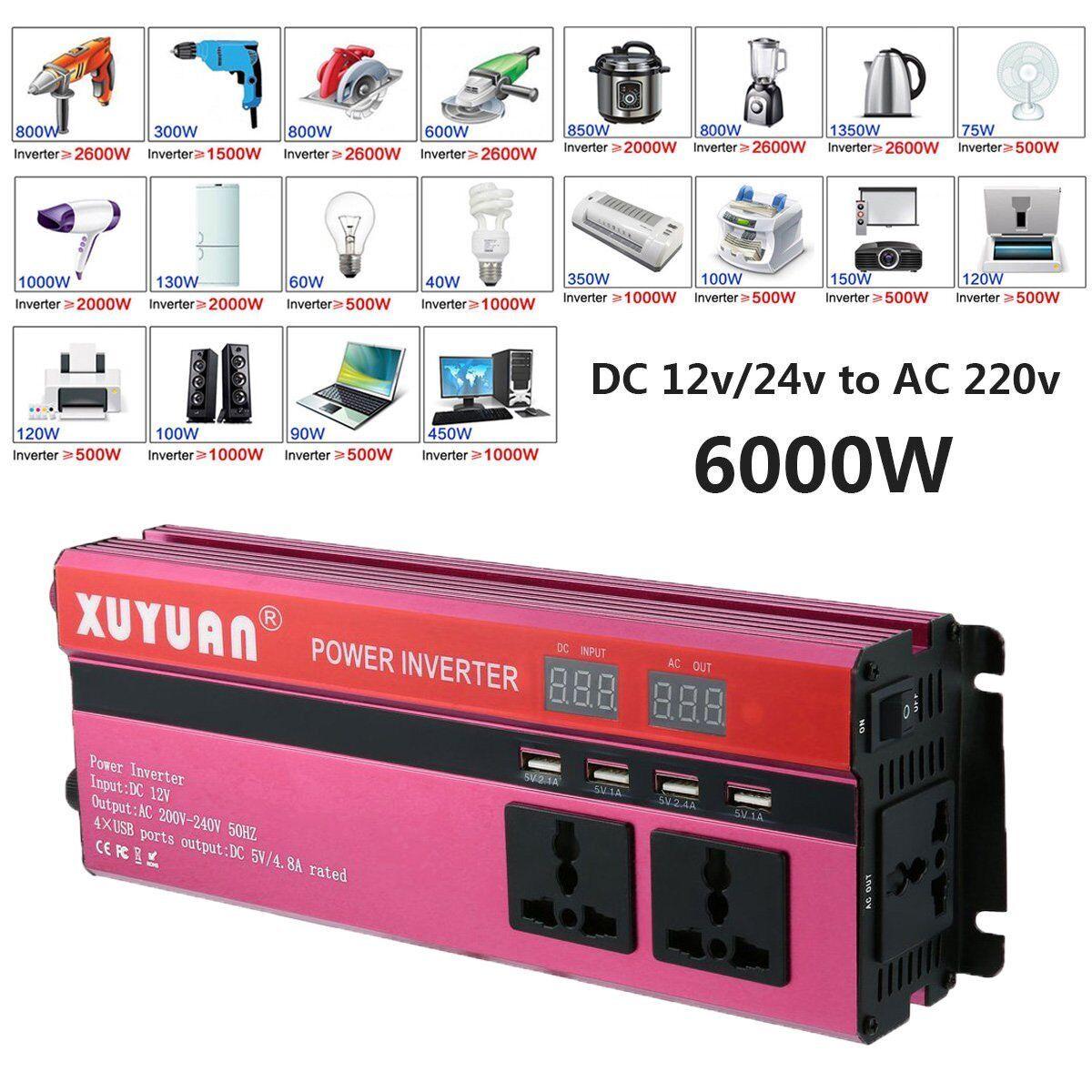 Spannungswandler 12V 6000W Stromwandler Solar Inverter Wechselrichter