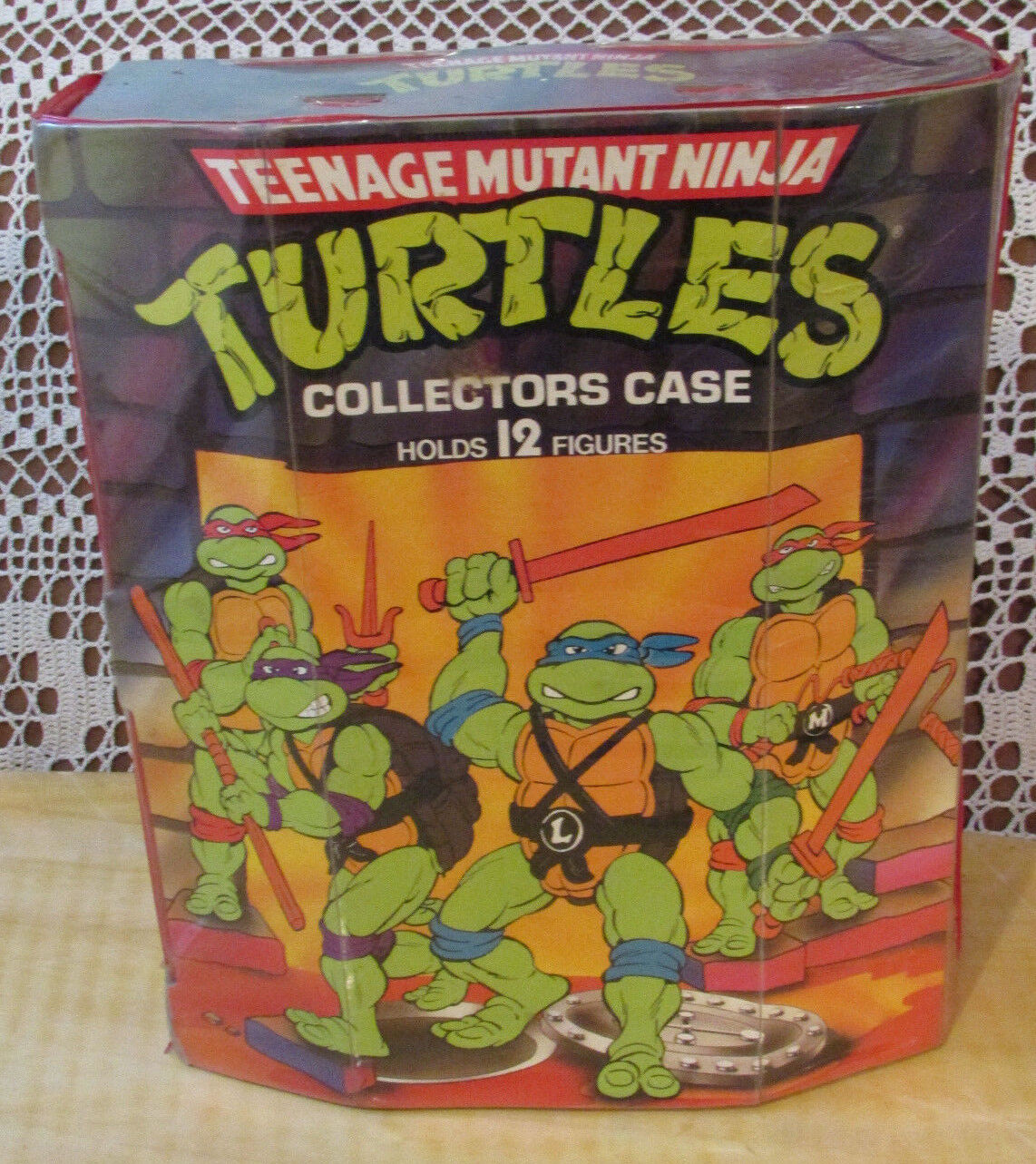 TEENAGE MUTANT NINJA TURTLES 1988 COLLECTORS CASE With 10 Action Figures Vintage
