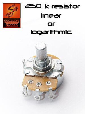 CTS-Poti 10mm Potentiometer long shaft 250 kOhm A log.