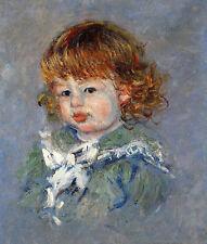 Oil painting Claude Monet - Jean-Pierre Hoschede nice little girl canvas