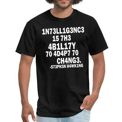 Stephen Hawking Intelligence T-shirt science T-shirt Scientist T-shirt Hawking