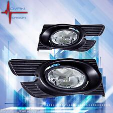 98-02 Honda Accord Sedan Fog Lights Clear Lens 4 Door Front Lamps FULL SET