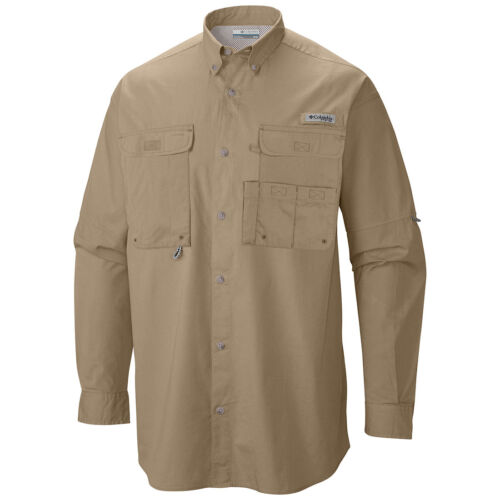 "New Mens Columbia PFG /""Bonehead/"" Vented Long Sleeve Fishing Shirt S-M-L-XL-XXL"