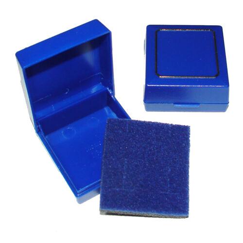 Foam Insert Jewellery Packaging 12 or 48 Small Blue Plastic Earring Gift Box