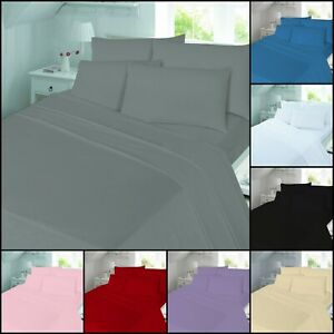 Night Zone Plain Dyed 100/% Brushed Cotton Flannelette Flat Sheet