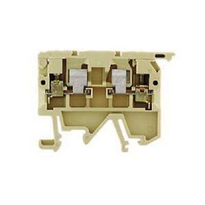 1 Stk Sicherungsklemme 5x20  2,5mm² beige Weidmüller 047456 //// ASK 1EN