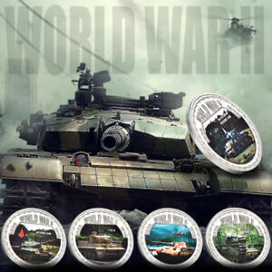 WR-World-War-2-Memorabilia-WW-II-Military-Tanks-Silver-Coins-Medals-Collectibles