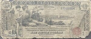 USA 1896 Banknote 1 Dollar Large Size Silver Certificate Schein US One #22073