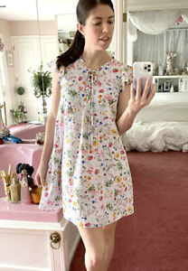 Cece by Cynthia Steffe Size 0 Floral Botanical Dress Wildflowers White X-Small