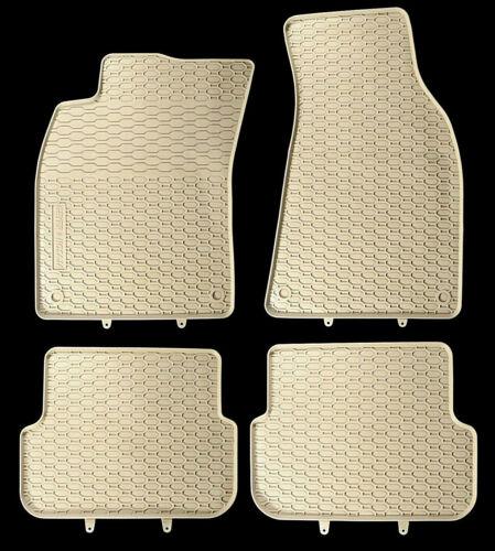 AUSVERKAUF Gummi-fußmatten  BEIGE fußmatten 4-teilig AUDI A6 C6 Bj. 2004-2011