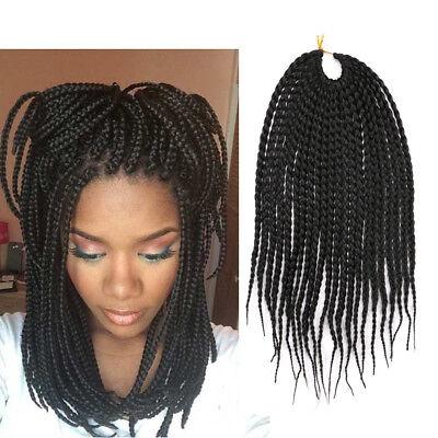 12 Black Box Braids Short Crochet Braids Hair Synthetic Braiding Hair Extension Ebay