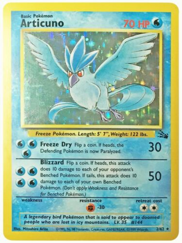 Pokemon Cards Fossil Set Holo Articuno Dragonite Moltres Gengar Zapdos Hypno