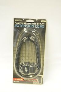 Bower-off-camera-flash-cable-for-Canon-digital-dedicated-TTL-new-old-stock
