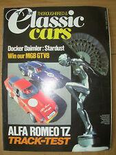 THOROUGHBRED & CLASSIC CARS MAGAZINE NOVEMBER 1983 ALFA ROMEO TZ TRACK TEST