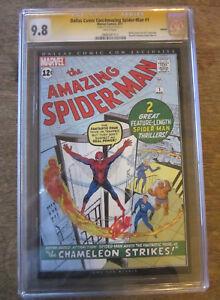 AMAZING-SPIDER-MAN-1-CGC-9-8-SS-Signed-auto-STAN-LEE-Dallas-Comic-Con