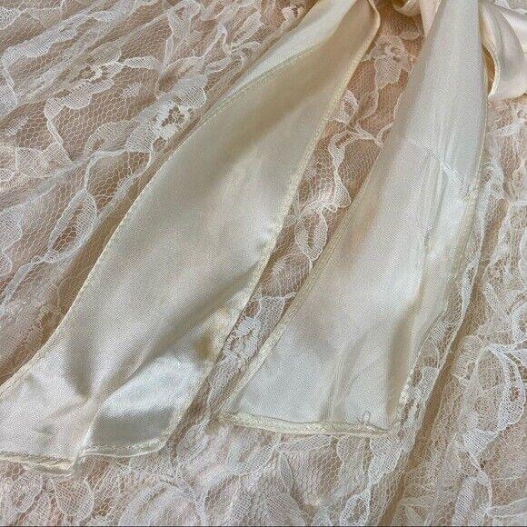 Gunne Sax girls lace dress cream shortsleeved - image 2