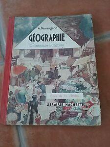 ancien-livre-ecole-GEOGRAPHIE-l-039-economie-francaise-Demangeon-ed-Hachette-1937