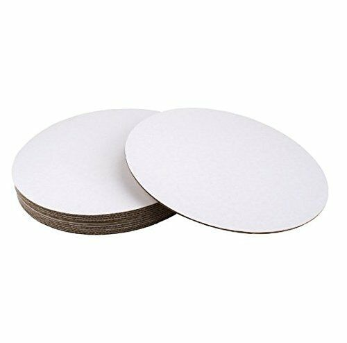 SafePro 12CC, 12-Inch Cake Pie Bakery blanc Round Paperboard Pads, CASE OF 100