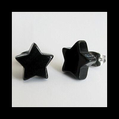 1 Paar ohrstecker Stern Herz Schwarz/Weiß #1330903