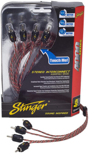 Stinger Pro 4000 Series Audiophile 12/' 4 Channel RCA Interconnects Cable SI4412