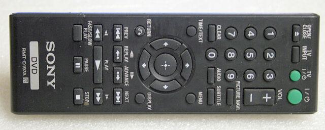 * GENUINE * SONY DVD REMOTE CONTROL - RMT-D197A