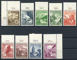 Drittes-Reich-MiNr-675-83-postfrisch-MNH-Oberrand-G656