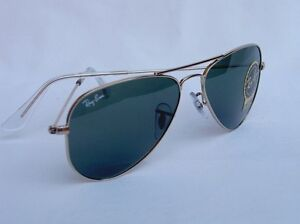 ray ban rb3044  New RAY BAN Sunglasses AVIATOR SMALL METAL Gold RB 3044 L0207 52mm ...