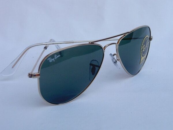 f4a2ec96ef ... authentic new ray ban sunglasses aviator small metal gold rb 3044 l0207  52mm g 15 lens ...