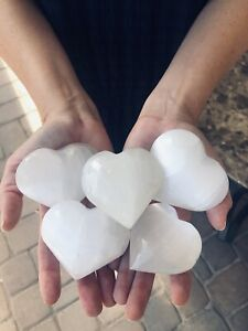 Extra-Large-Selenite-Heart-3-034-Polished-Healing-Crystal-Chakra-Reiki-Stone