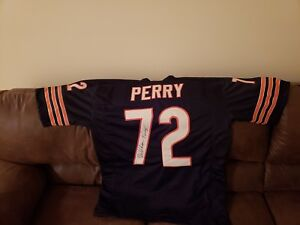 fc3ddaadcd2 Image is loading William-Perry-Chicago-Bears-Signed-Autograph-Football- Jersey-