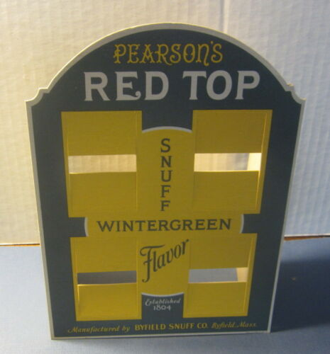 SNUFF Store Display Pearson/'s Red Top WINTERGREEN Original Old Vintage