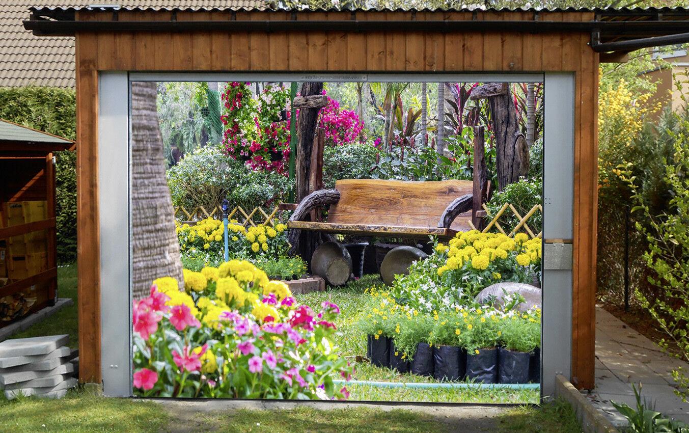 3D Garden Chair 5 Garage Door Murals Wall Print Decal Wall AJ WALLPAPER AU Lemon
