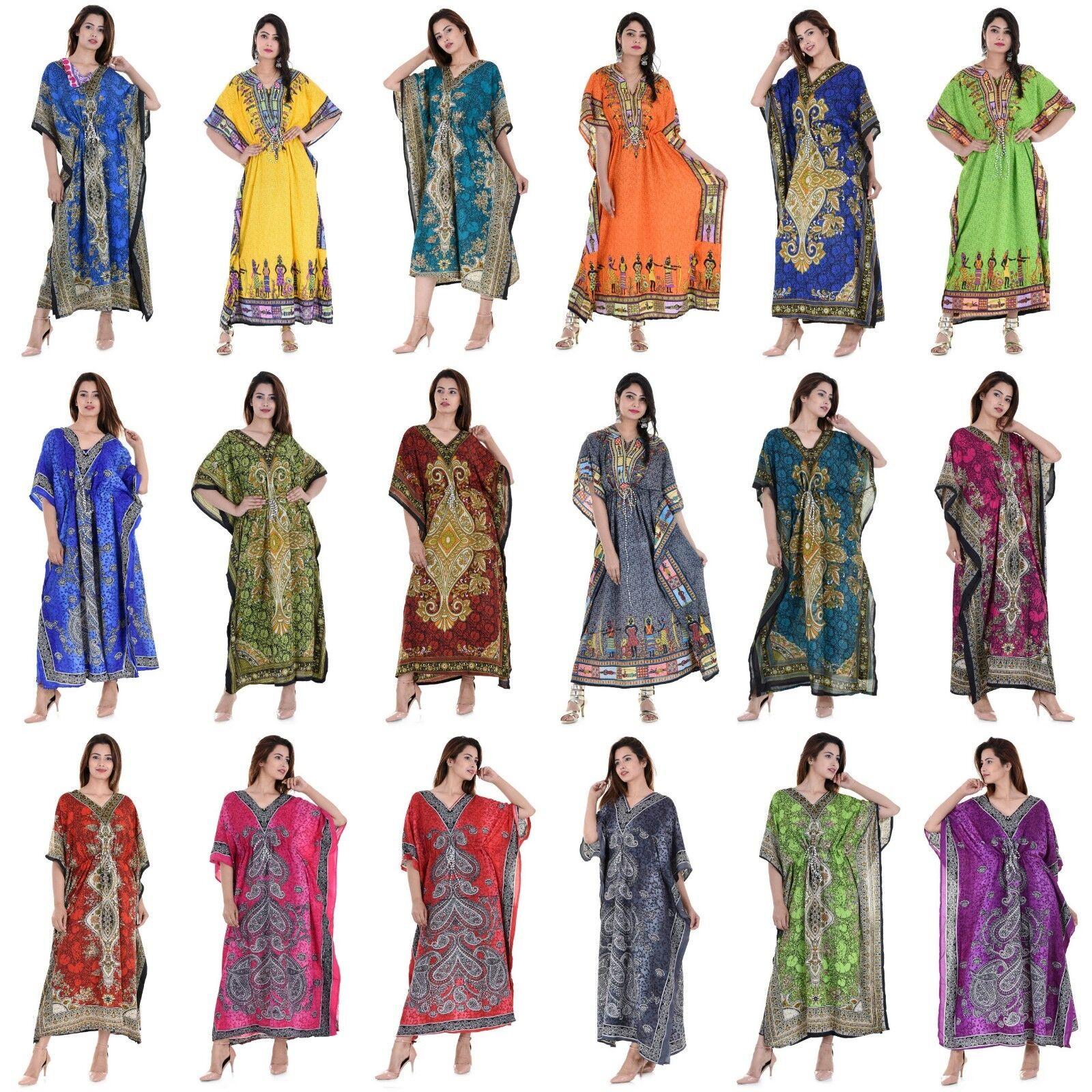 9e7aa03205aa4 Wholesale Lot 100 Pcs Assorted Women Long One Size Plus Maxi Kaftan ...