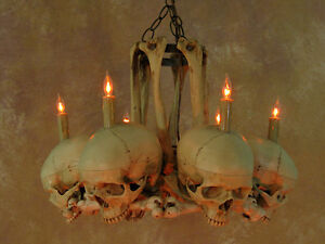 Skull hip bone chandelier halloween prop human skeletons new ebay image is loading skull hip bone chandelier halloween prop human skeletons aloadofball Image collections