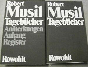 Robert-Musil-TAGEBUCHER-2-Baende-mit-Anmerkungen-Anhang-Register-HC-1976-OU-EA